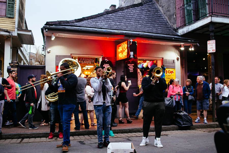 horn section in the french quarter