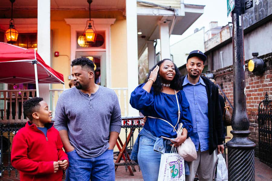 family in the french quarter