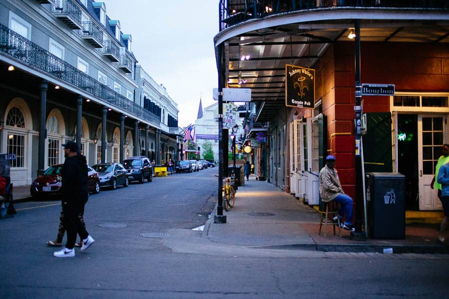 Johnny whites in the french quarter