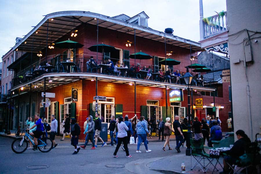 on bourbon street in the french quarter