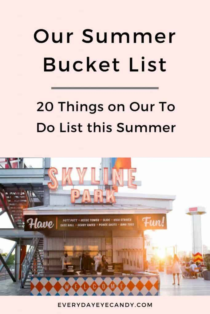 HAVE A PLAN THIS SUMMER? CHECK OUT OF SUMMER BCUKET LIST!