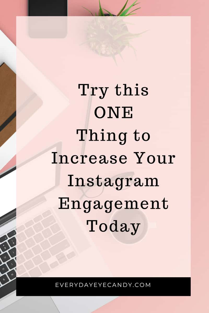looking for ways to increase your Instagram engagement? Try this one thing and watch your engagement explode. #instagram #instagramtips