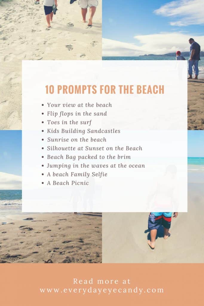 10 prompts for taking photos at the beach