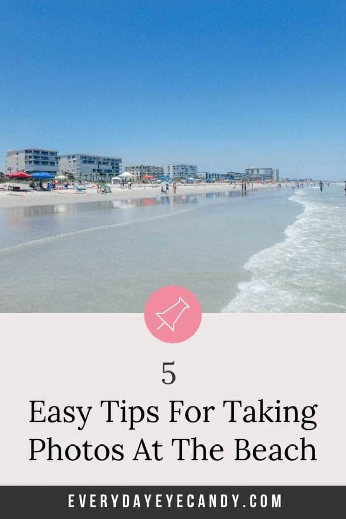 easy tips for taking photos at the beach graphic