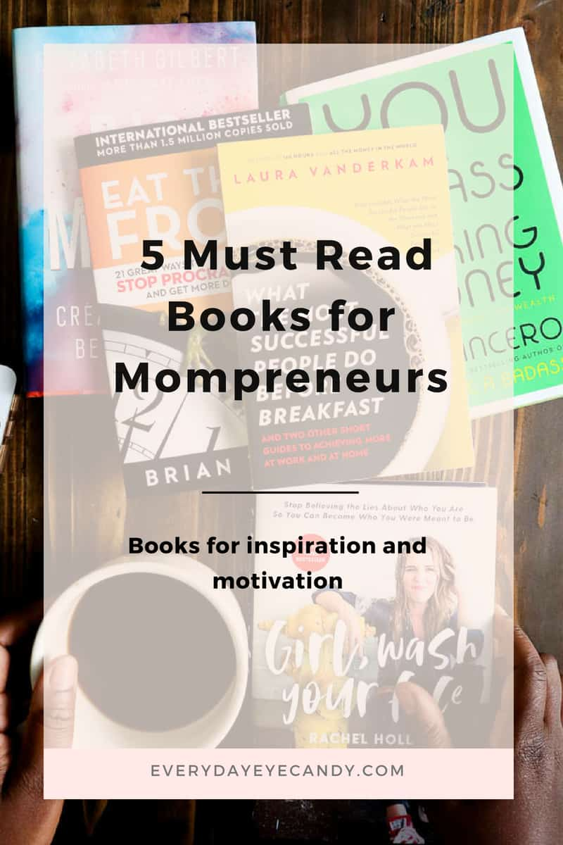 Check out these 5 business books for women in business for inspiration and advice. #girlboss #entrepreneur #mompreneur #books #readinglist