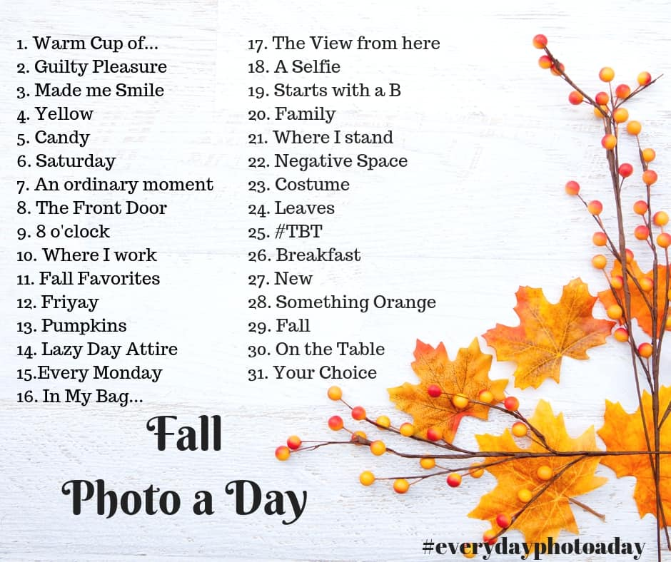 It's Time for the Fall Photo a Day 2018
