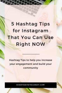 5 hashtag tips for instagram