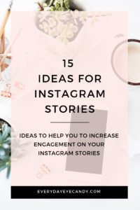 ideas for instagram stories