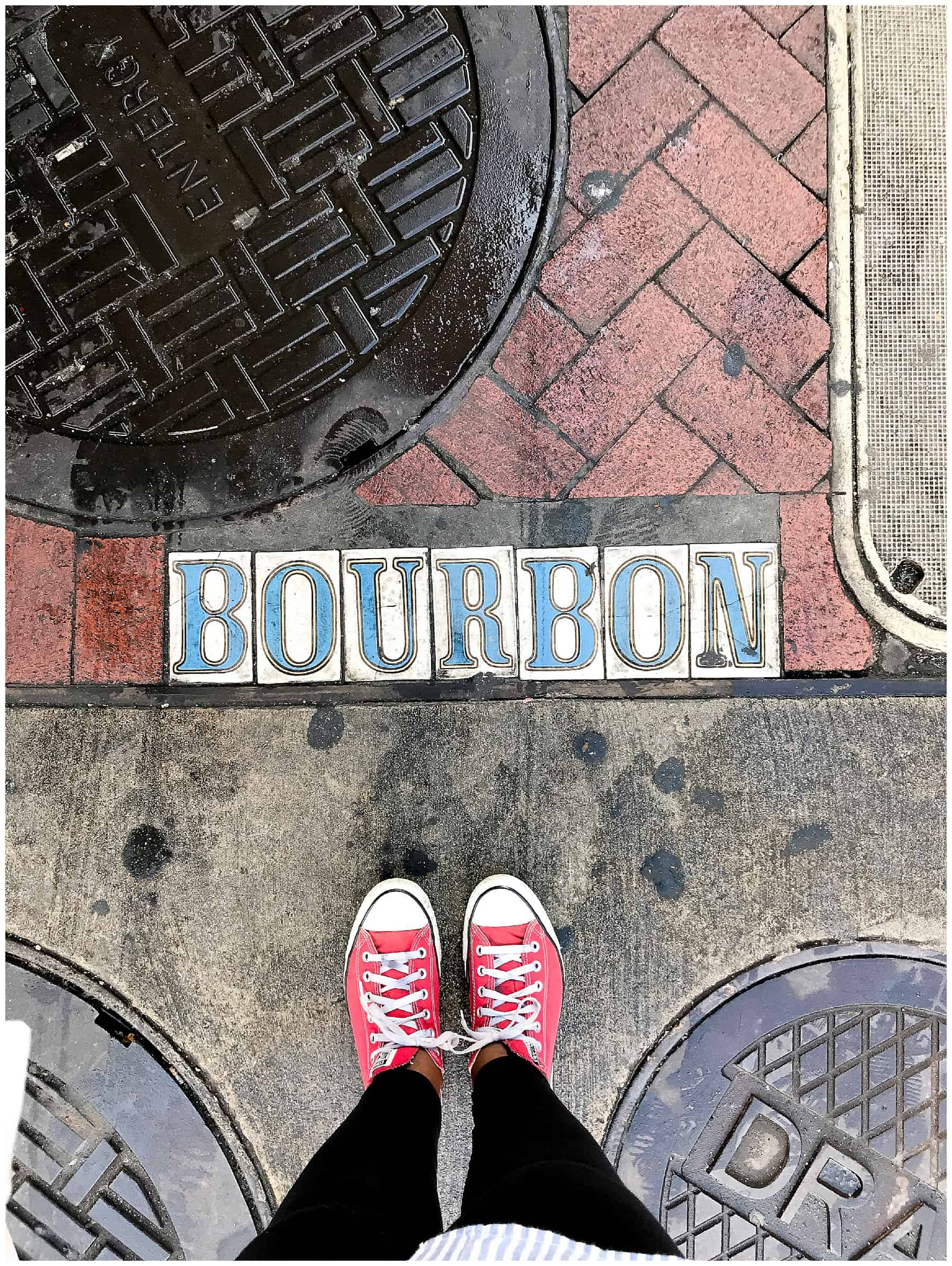 walking though new orleans on bourbon street
