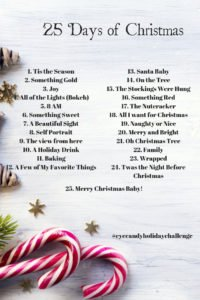 25 days of christmas photo a day challenge