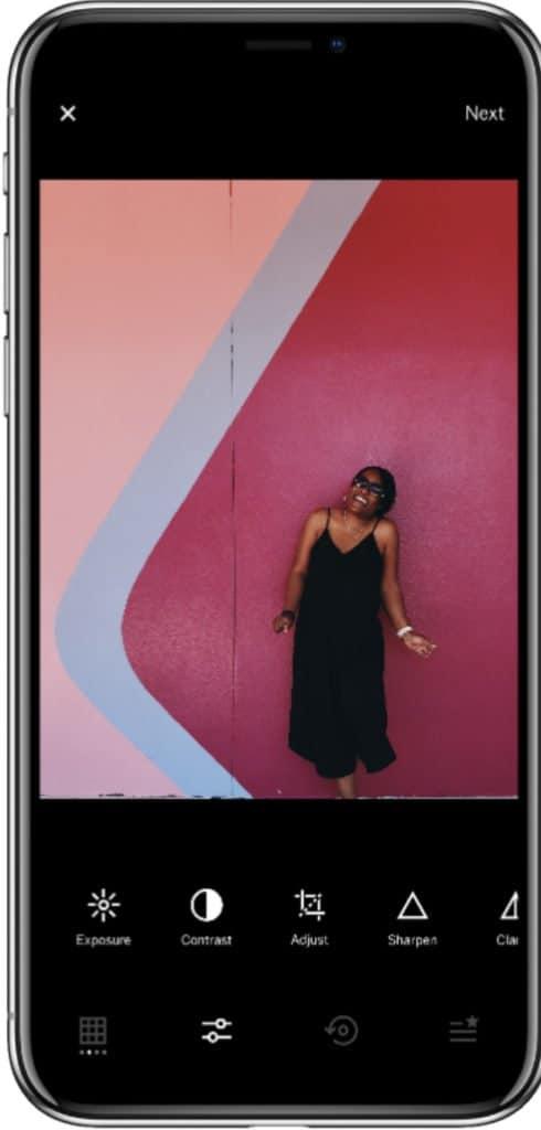 VSCO app to edit instagram photos