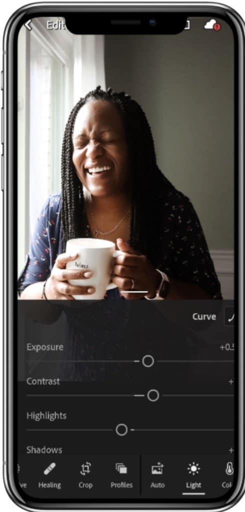 use lightroom for mobile to edit your photos