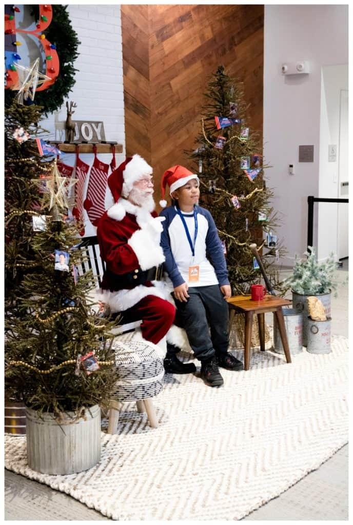 santa at the onUp experience