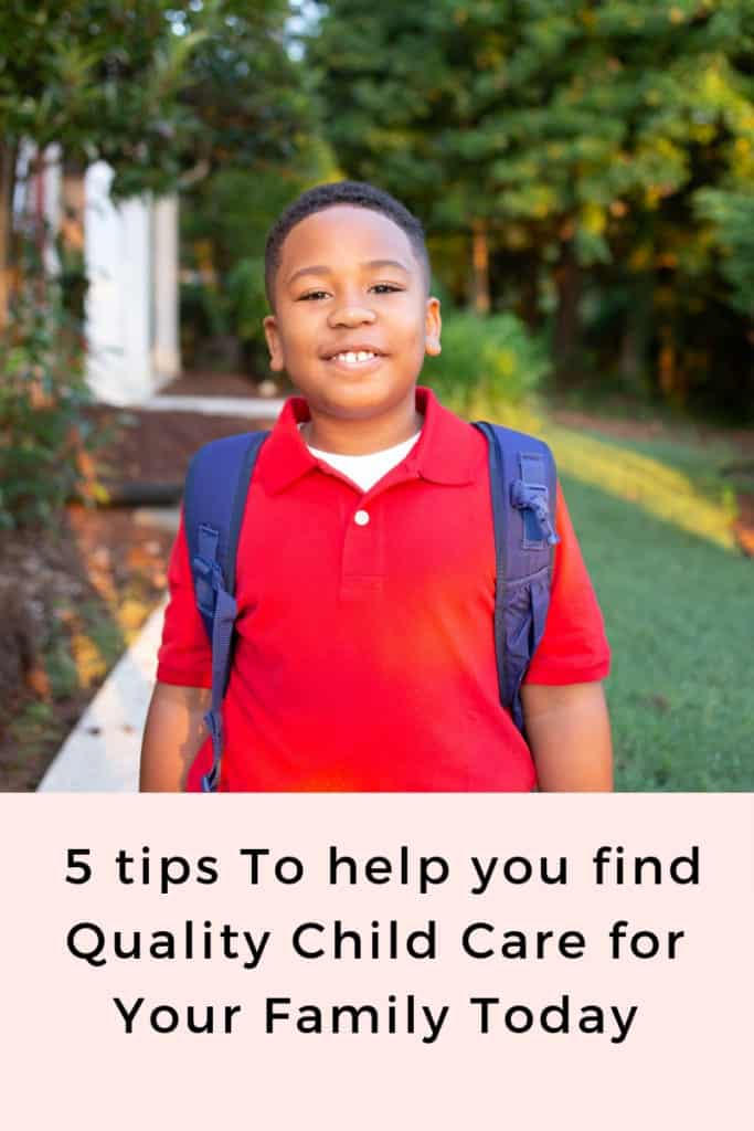 5 tips to help you find quality child care