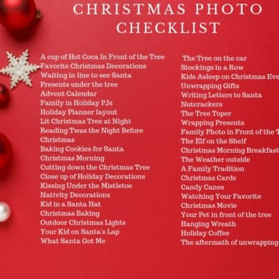 Christmas Photo Checklist and Tips to Help you Capture the Season