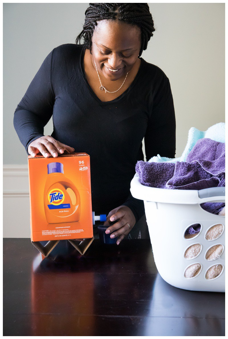 Organizing my Laundry Room with Tide Eco-Box