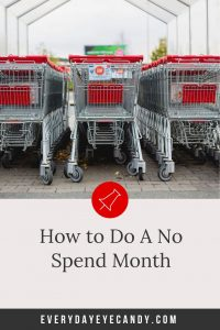 line of target carts to avoid on a no spend month.