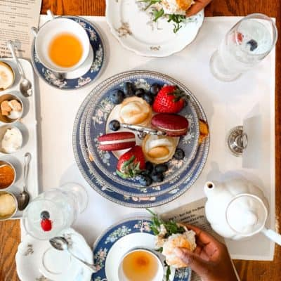 High Tea in Atlanta at Tipple And Rose Tea Parlor and Apothecary