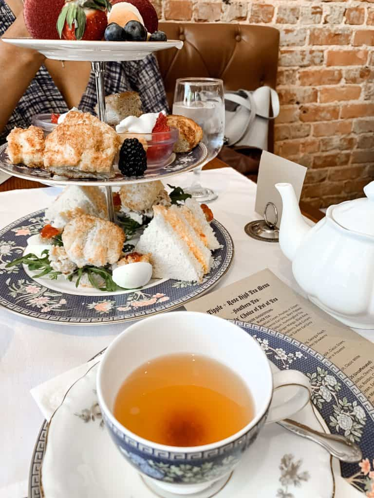 high tea in atlanta at tipple and rose