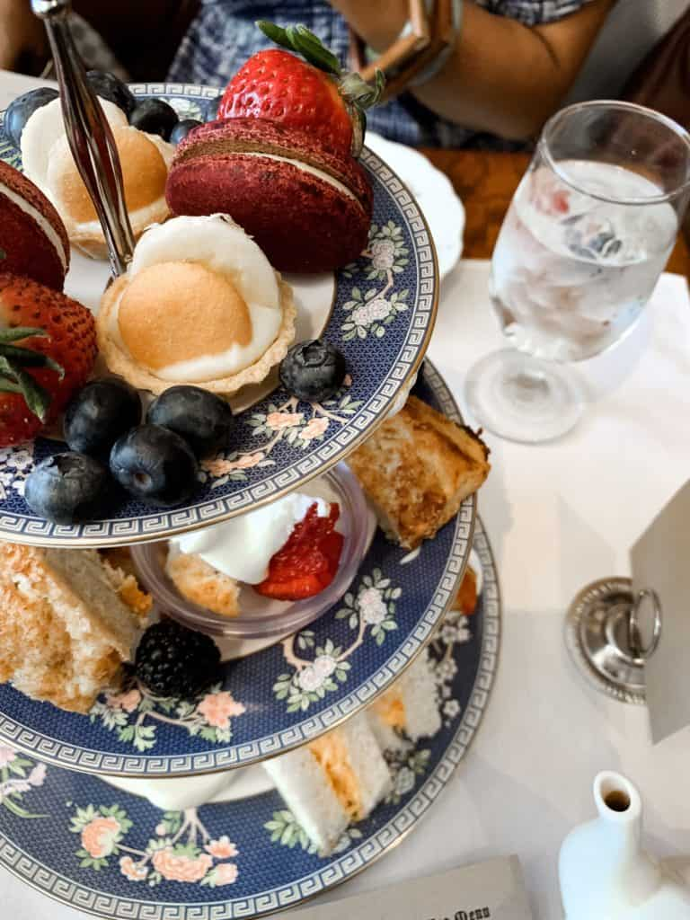 my first high tea in atlanta