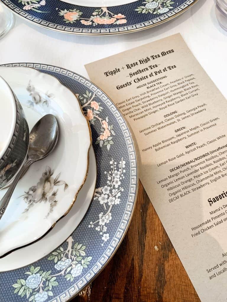 southern high tea in Atlanta