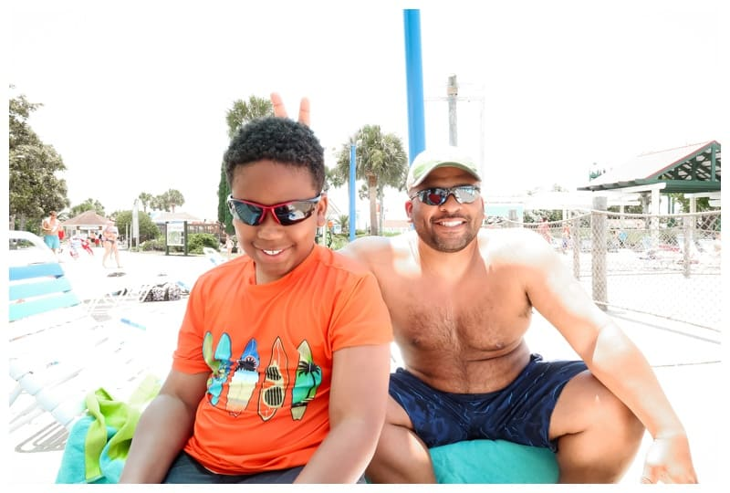 family roadtrip to Jekyll Island at water park