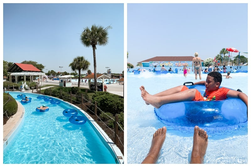 fun at summer waves water park on a family roadtrip to Jekyll Island