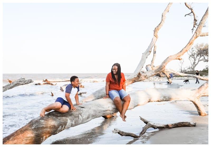 driftwood beachfamily roadtrip to Jekyll Island