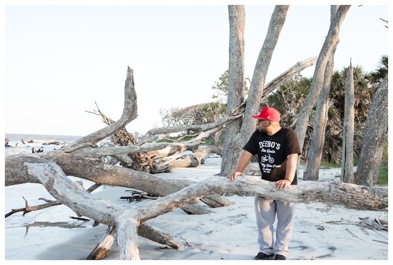 Driftwood beach on a family roadtrip to Jekyll Island