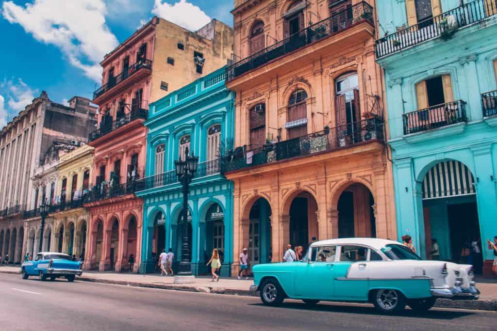 ride in a classic car in Cuba. Family Travel Bucket list