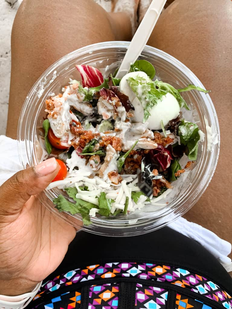 jerk chicken salad at Leaning Palms at Disney's Typhoon Lagoon