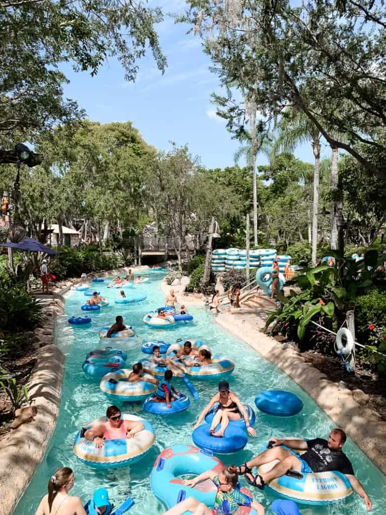 the lazy river at disney typhoon lagoon