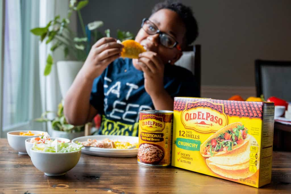 gluten free taco tuesday with Old El Paso