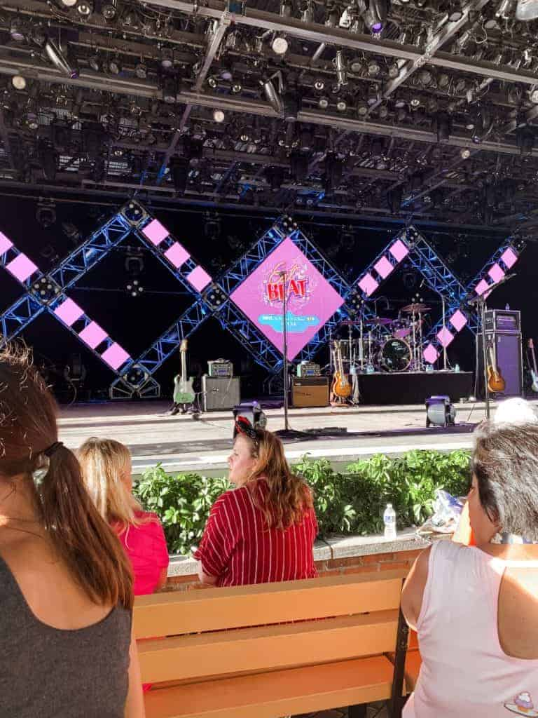 eat the beat concert theories at Epcot food and wine