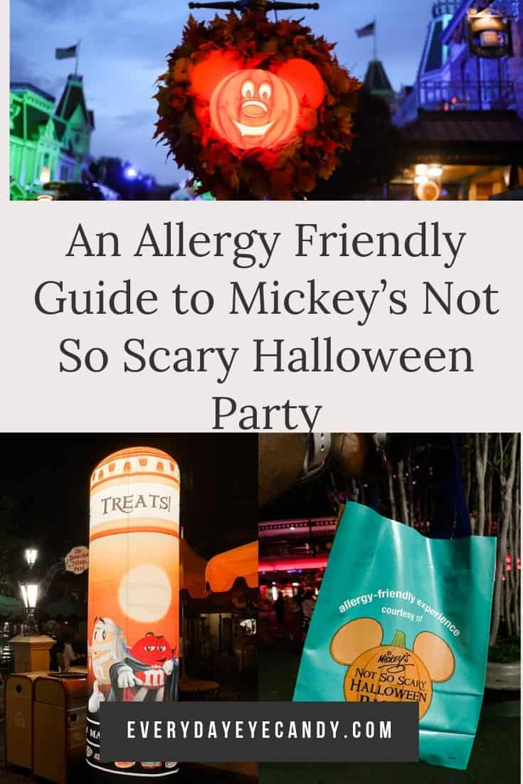 If you have kids who have food allergies, check out this allergy-friendly guide to Mickey\'s Not so Scary Halloween Party! #notsoscary #halloween #foodallergies #Disney