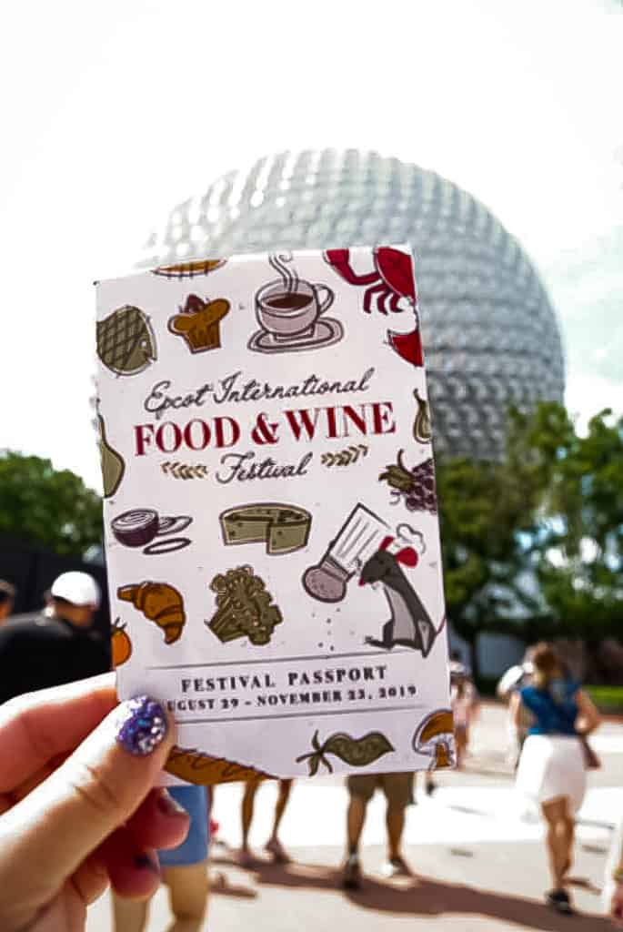 get a passport at the food and wine festival