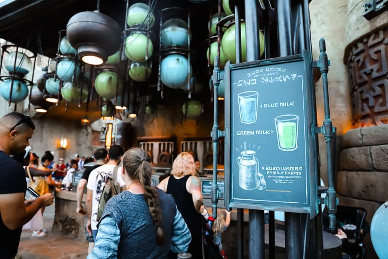 blue milk at galaxy's edge