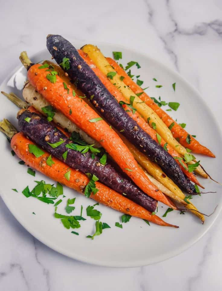 Honey Roasted Coriander Carrots