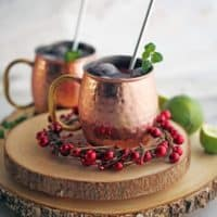 Pomegranate Honey Moscow Mule