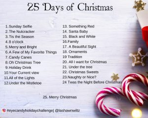 25 days of christmas photo a day challenge graphic