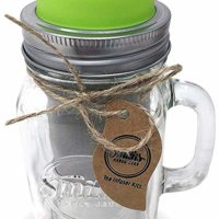 Cold Brew Coffee Maker Mason Jar Mug and Silicone Lid - Loose Leaf Tea Infuser & Herbal Tea Steeper - Brews, Strains & Steeps Single Cup of Extra Fine Tea Mason Jar Mug and Silicone Drinking Lid