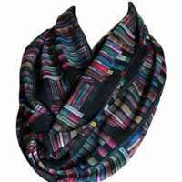 Bookshelf Black Infinity Scarf Circle Scarf Loop Scarf