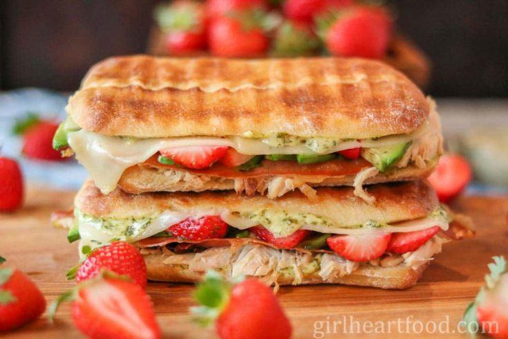 Turkey Panini {with crispy prosciutto & strawberries}