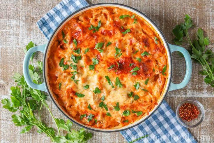 Turkey Pasta Bake {delicious leftover turkey idea!}