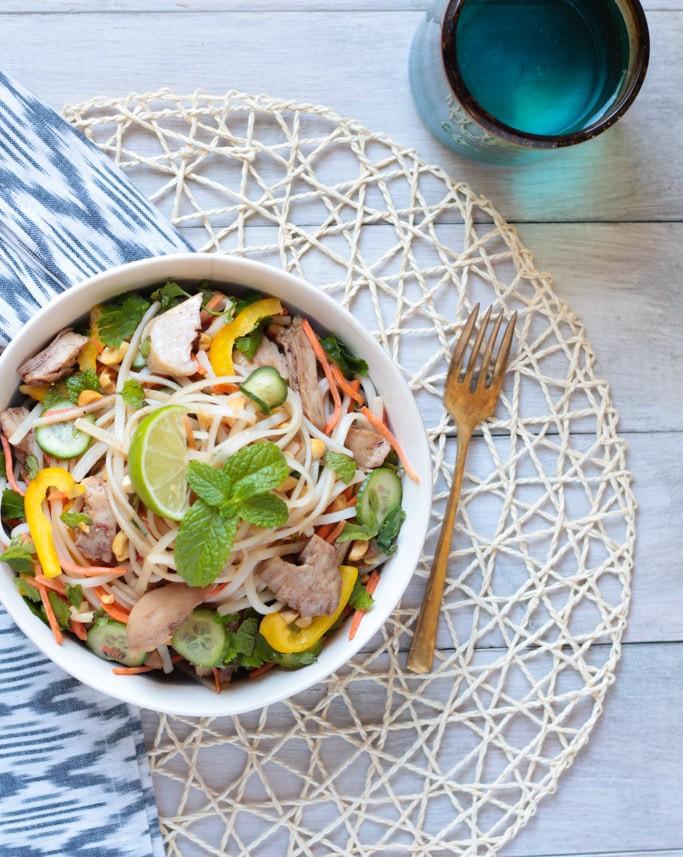 Five Spice Turkey Rice Noodle Salad