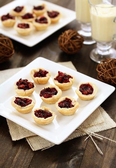 Bite Sized Mini Cranberry Walnut Tarts