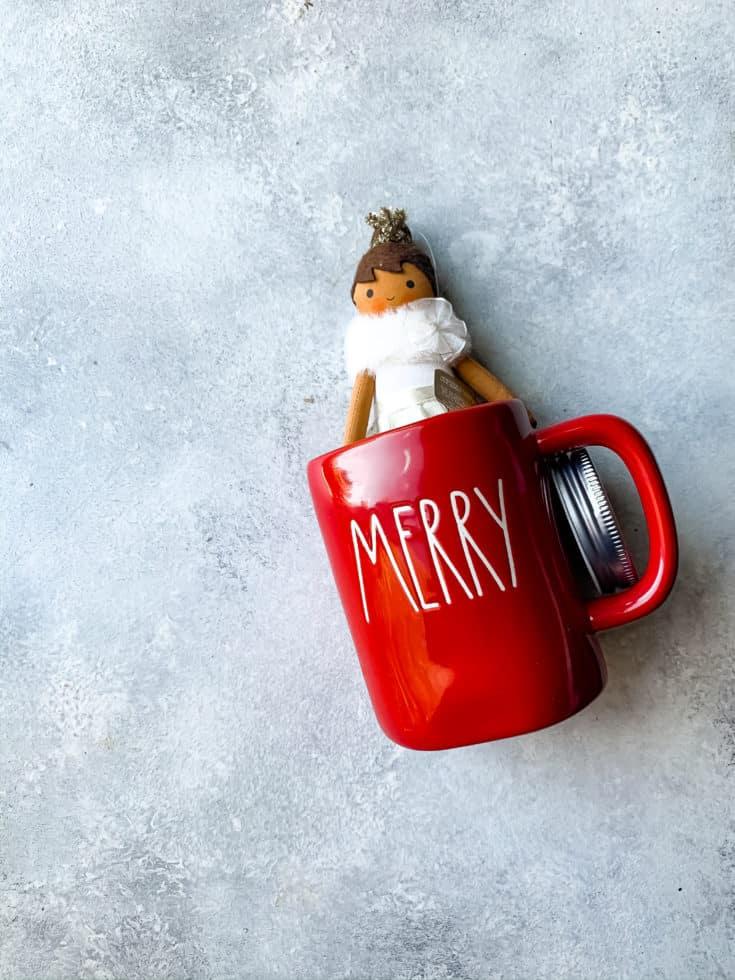 Rae Dunn Red Merry Mug