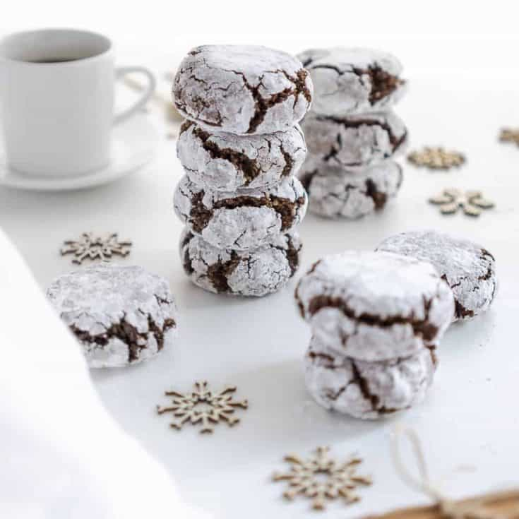 Vegan Chocolate Amaretti Cookies