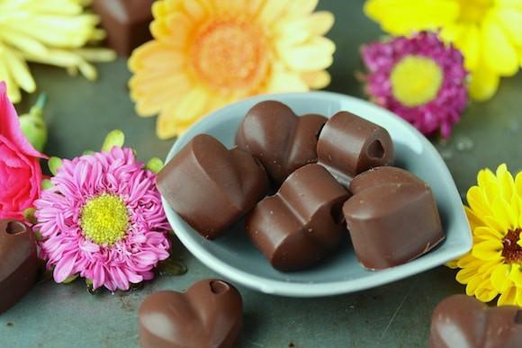 Homemade Chocolate Raspberry Hearts (Vegan)