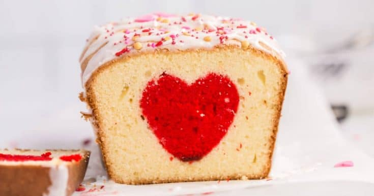 Valentine's SURPRISE INSIDE Heart Cake - (Using Boxed Cake Mix!!)